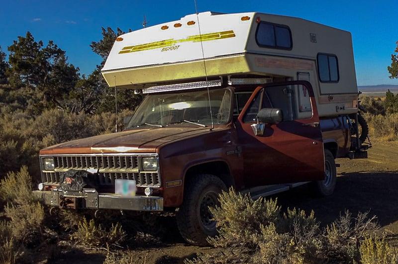 Bigfoot Dry Camping Dirt Road