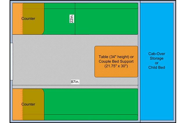 Cave Camper Floor Plan
