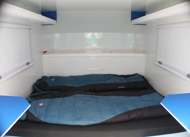 Cave Camper Queen Bed Made Up