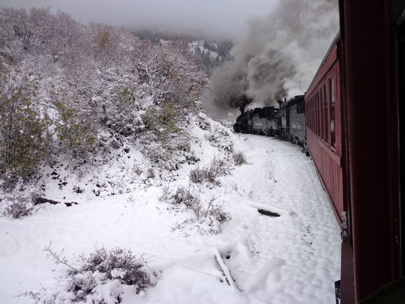 Chama, New Mexico Steam Train Snowstorm