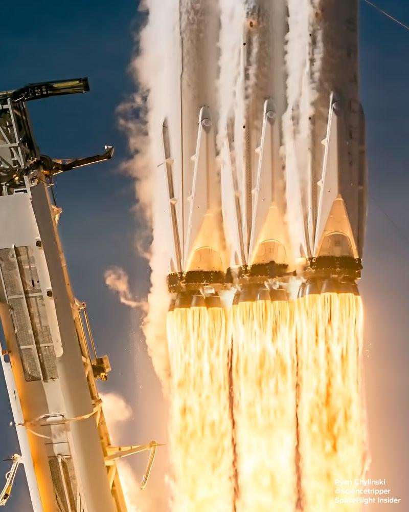 Slow Motion Falcon Rocket Flames Ryan Chylinski