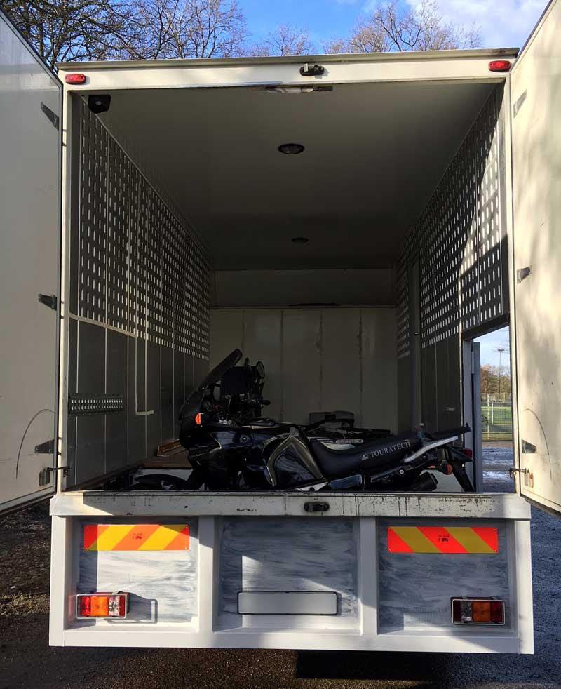 Motorcycle Garage In Truck Camper