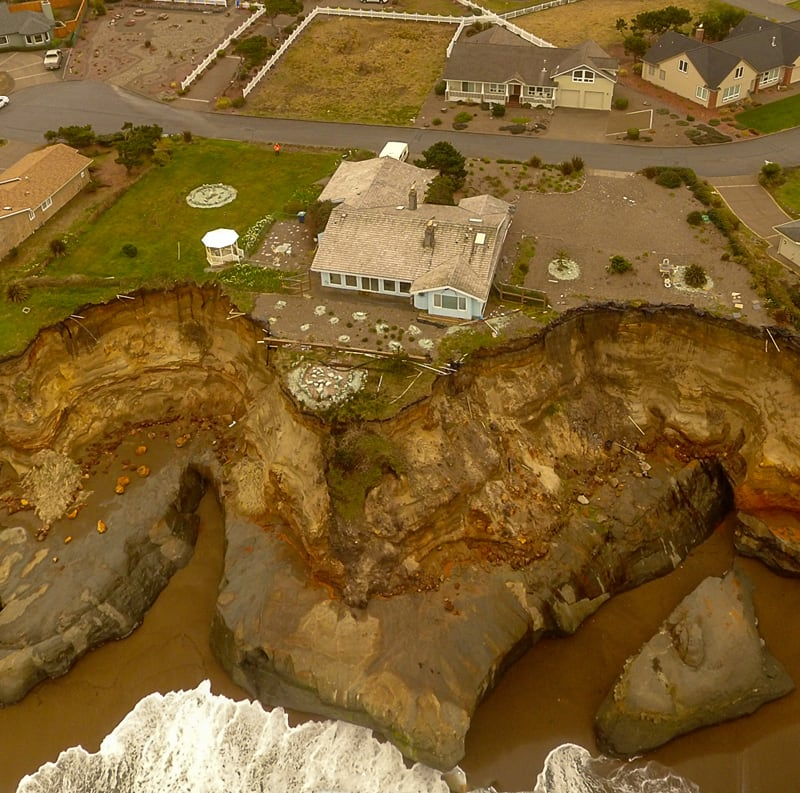 Mudslide From Drone