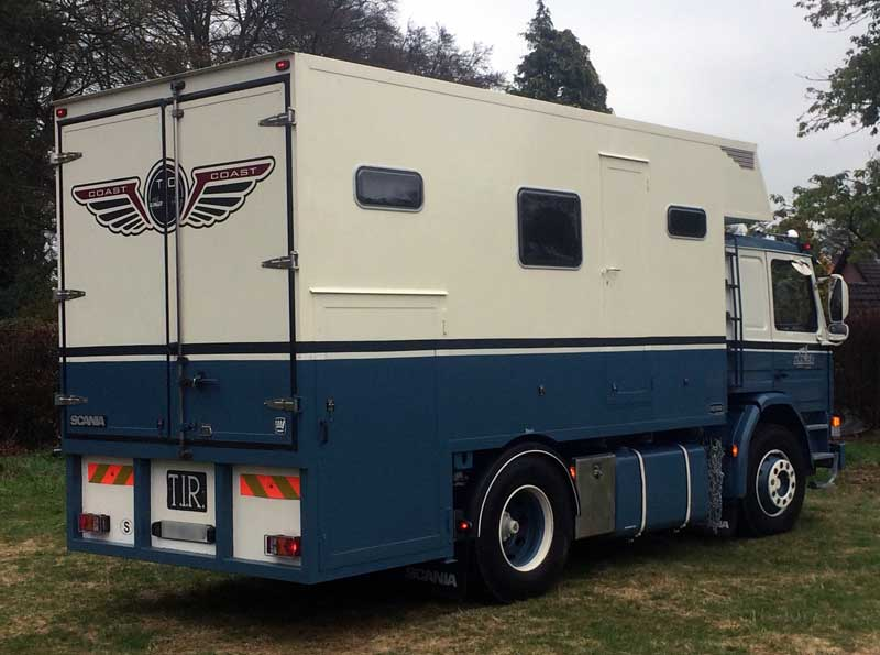 Scania Truck Camper From Back