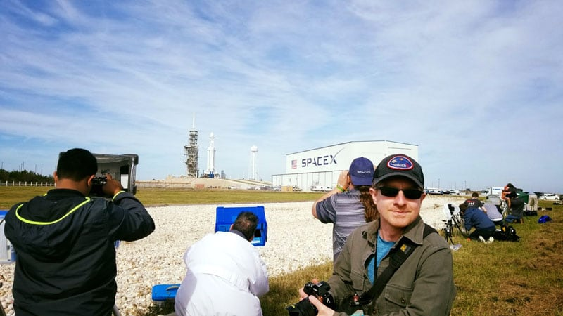 Setting Up Cameras For Space X Launch