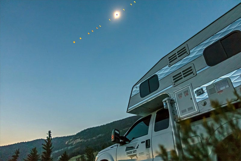 Whiskey Basin, WY Eclipse Composit