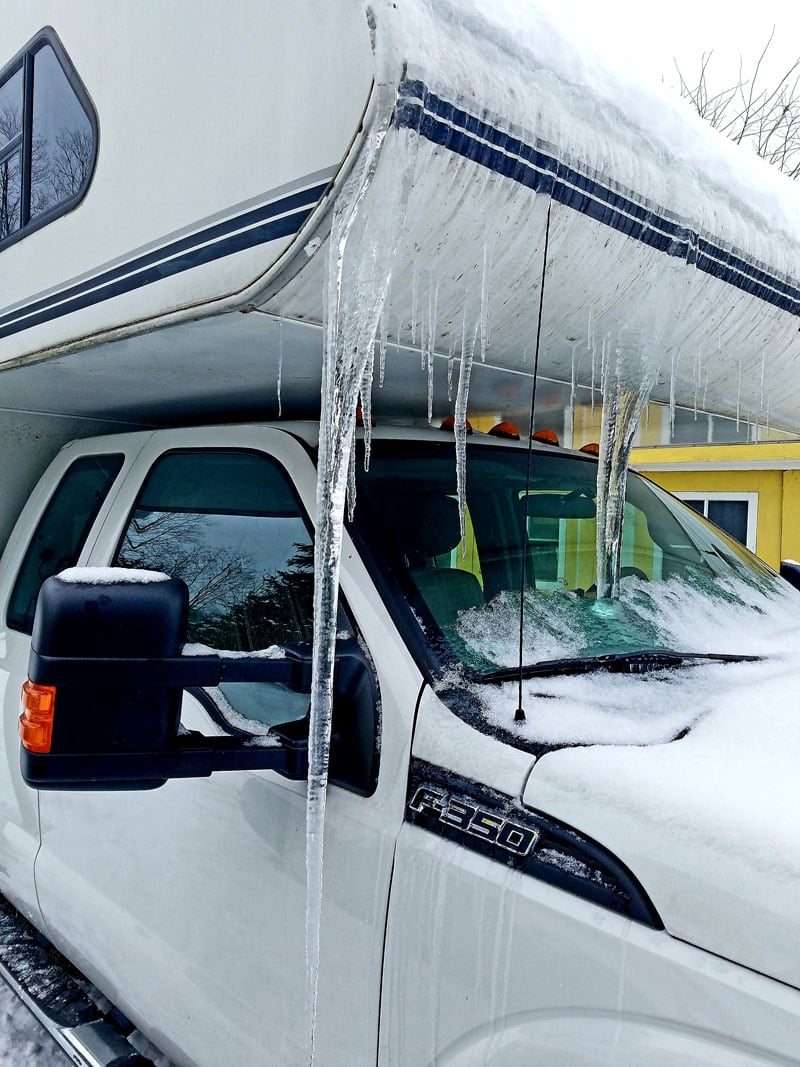 Snow And Ice on Lance Camper