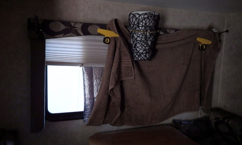 Window Coverings With Towel