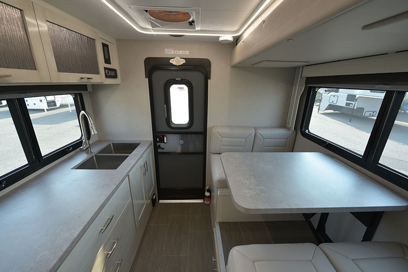 Adventurer 901SB interior wide shot dinette kitchen