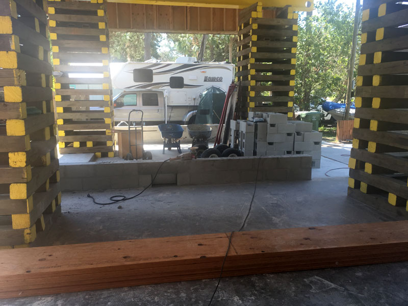 Building The New Garage For Lance 850