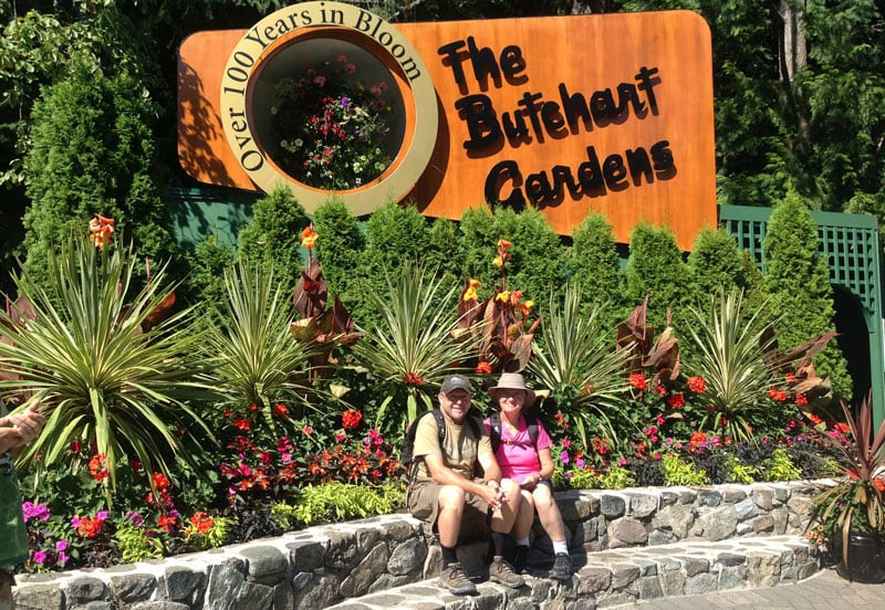 Butchart Gardens Sign