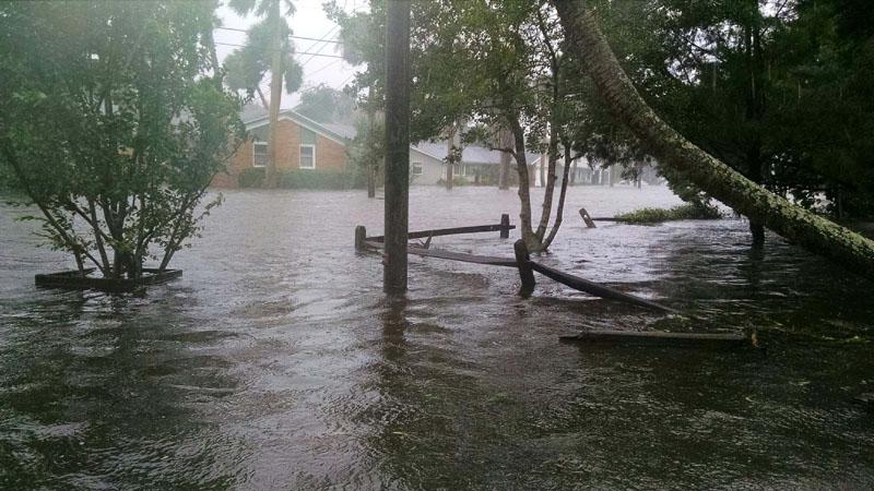 Damage From Flooding Hurricane Matthew