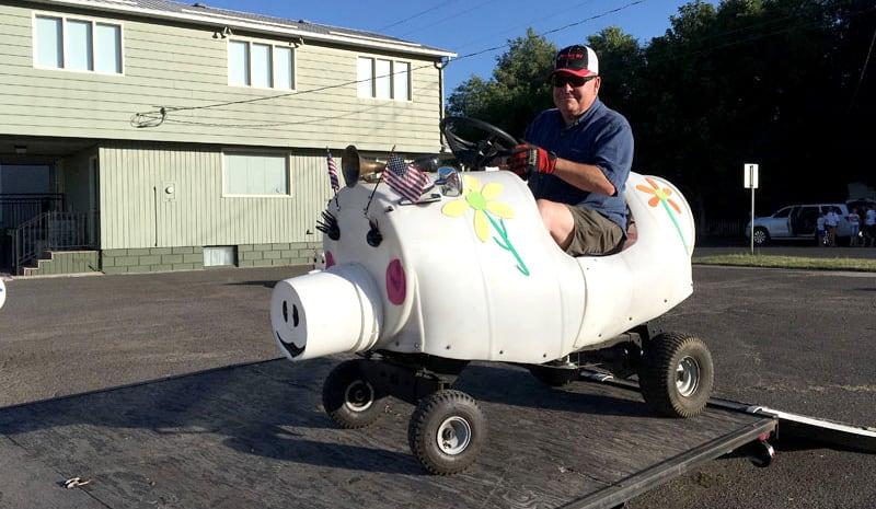Dan Driving The Pig Train In LaGrande