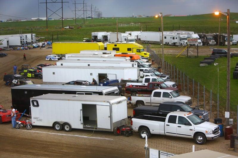Estevan Motor Speedway Canada Orange Camper