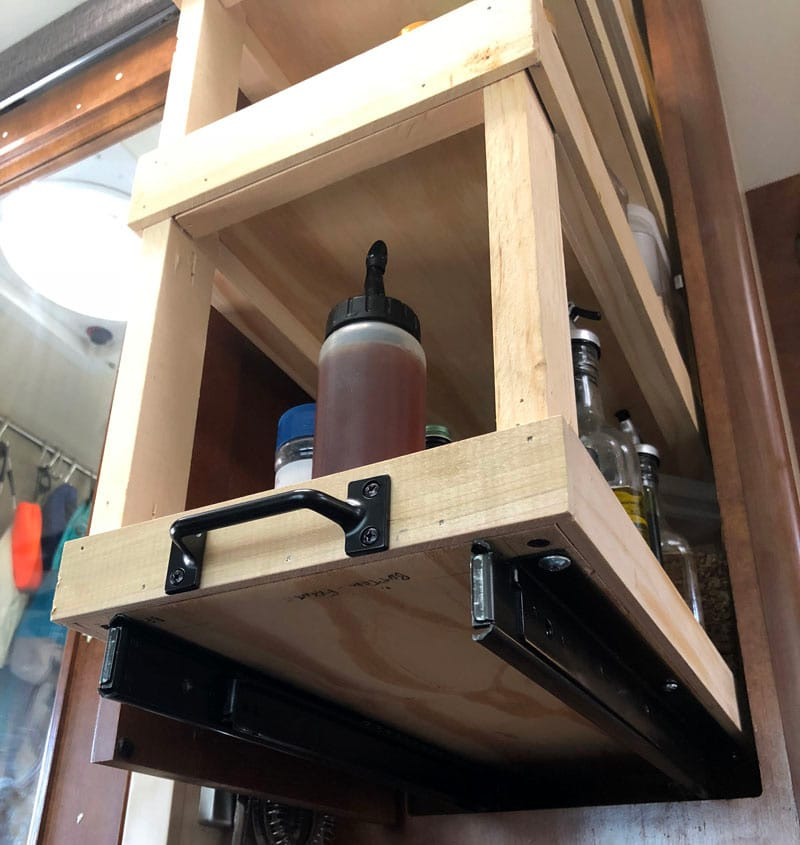 Homemade Kitchen Pantry Bottom Slide