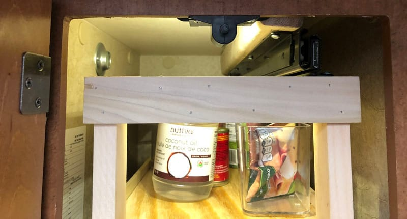 Homemade Kitchen Pantry Top Slide