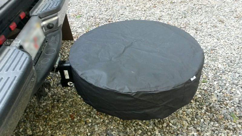 Overhang Camper Spare Tire Cover