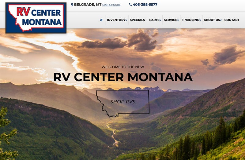 RV Center Montana New Website