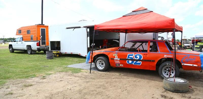 Racecar Under Canopy, Heart-O-Texas-Speedway