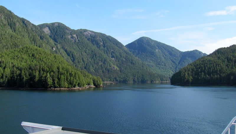 Scenery On Ferry To Vancouver Island