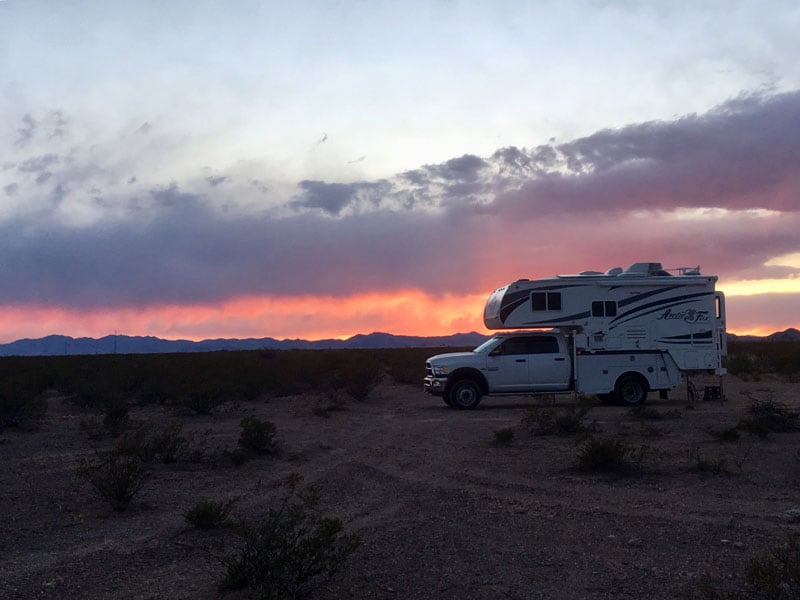 Sunset On BLM Land In Elephant Butte New Mexico