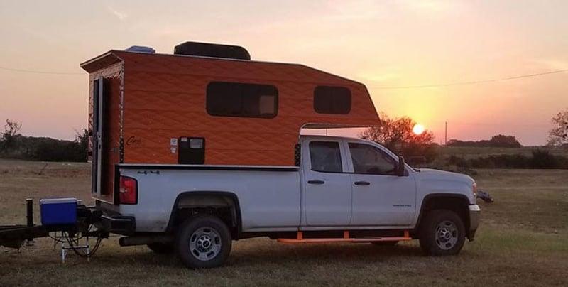Orange Truck Camper