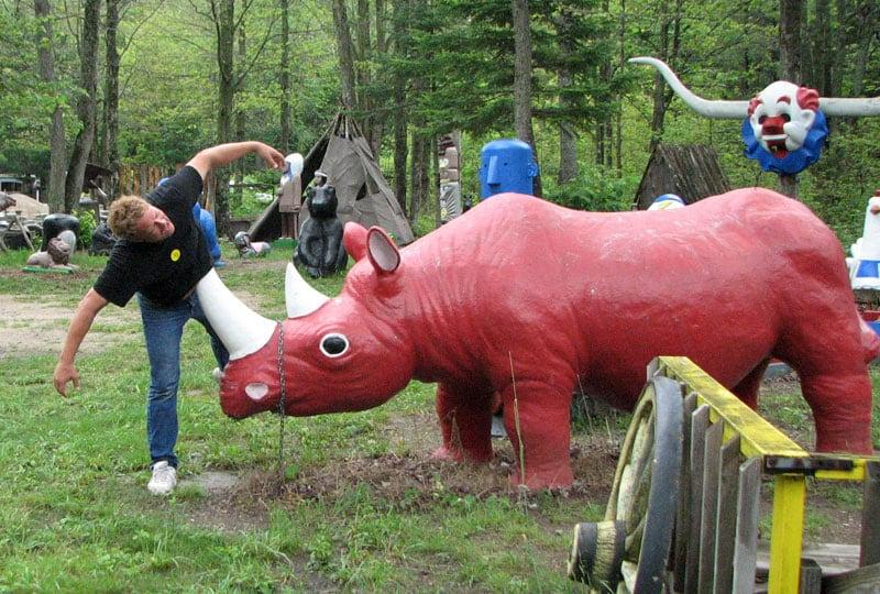 Roadside Attractions Red Rhinoceros