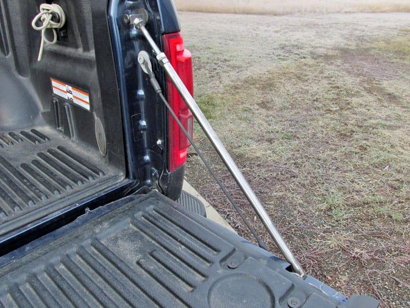 Tailgate Strut Installed