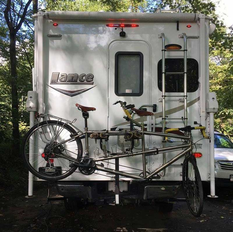 7cycles Tandem Bicycle On Camper