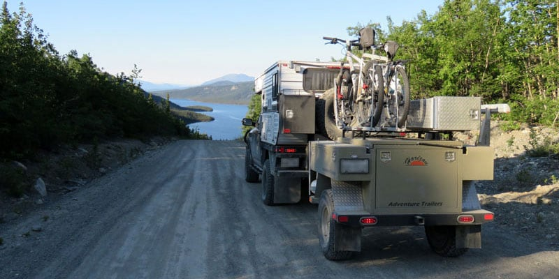 Alaska Dirt Road With Trailer