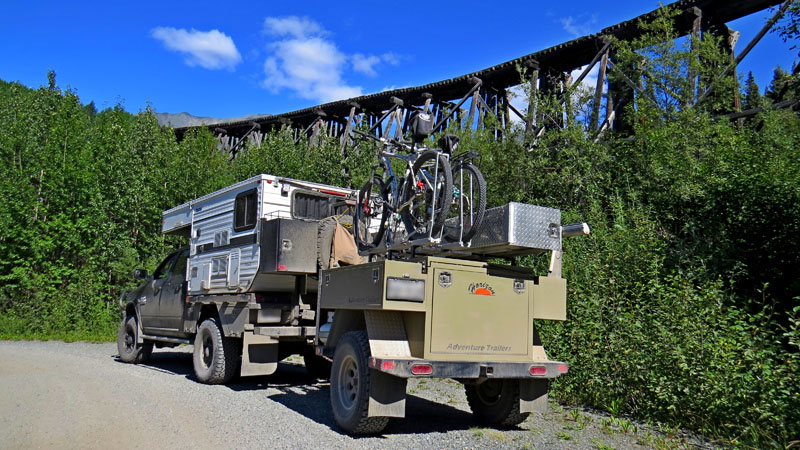 Alaska On The Road With Trailer
