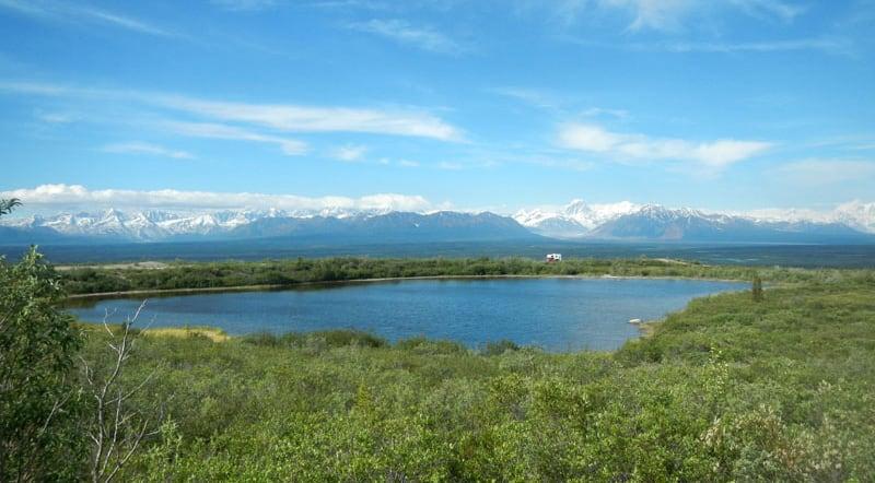 BLM Scenic Pulloff Camping Denali Highway in Alaska