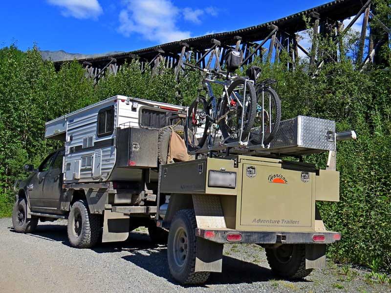 Bike Rack On Utility Trailer