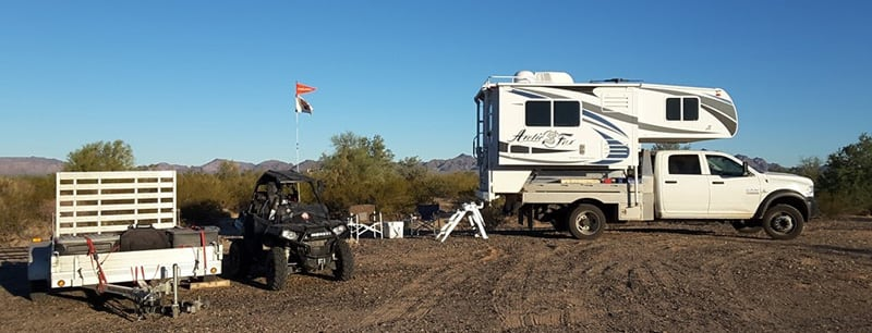Buggy Set Up Campsite