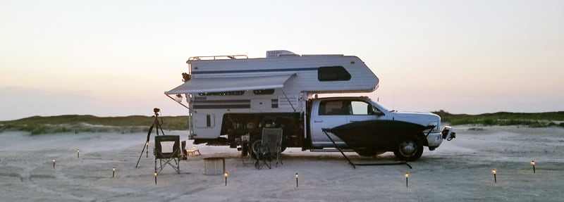Camp At Surfside Beach In Texas