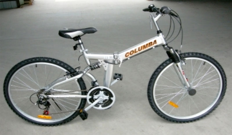 Columba folding bike ready to go