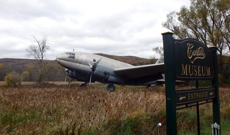Curtiss Plane Sign