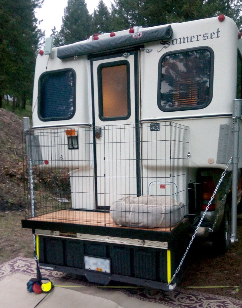 Dog Pen Back Of Camper