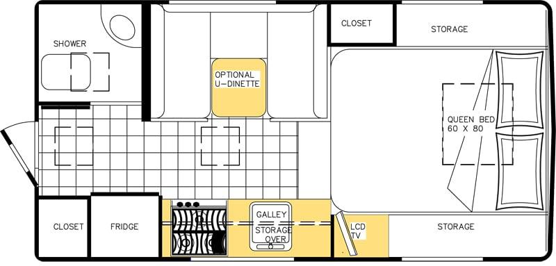 Floor Plan Northern Lite 8 11 EX Wet Bath Optional Dinette