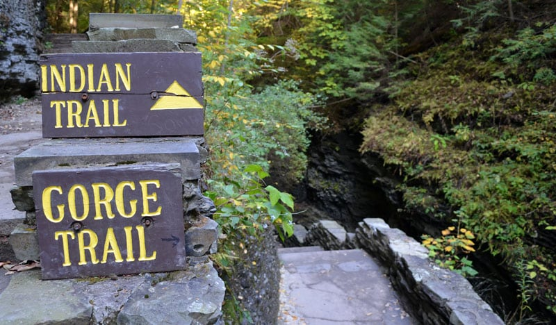 Gorge Trail Sign Watkins Glen
