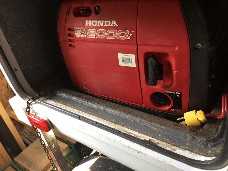 Honda Generator Compartment Modification 1