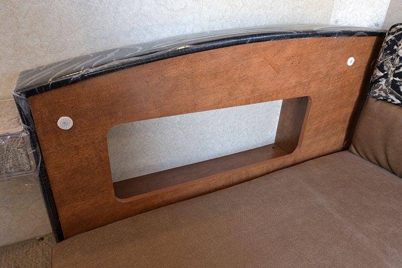 Lance 650 Dinette Storage Behind Seat