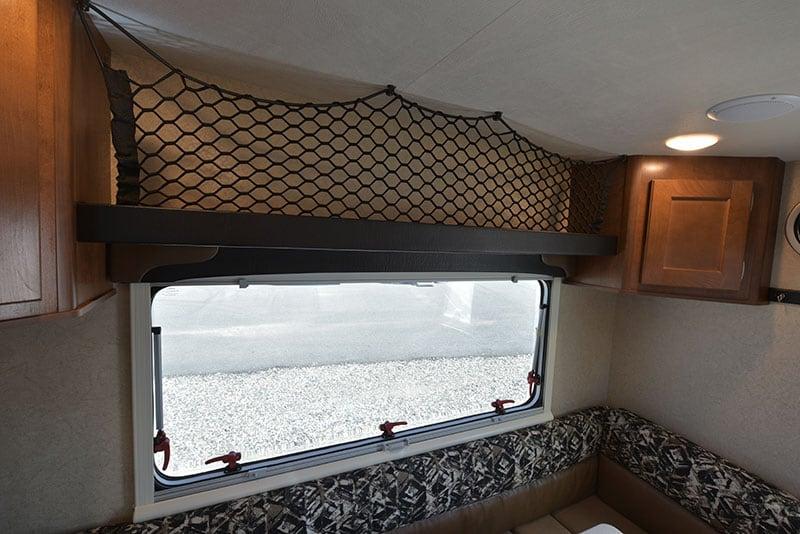 Lance 650 Dinette Upper Cabinetry Netting