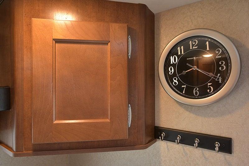 Lance 650 Dinette Upper Cabinetry Rear Clock Hooks