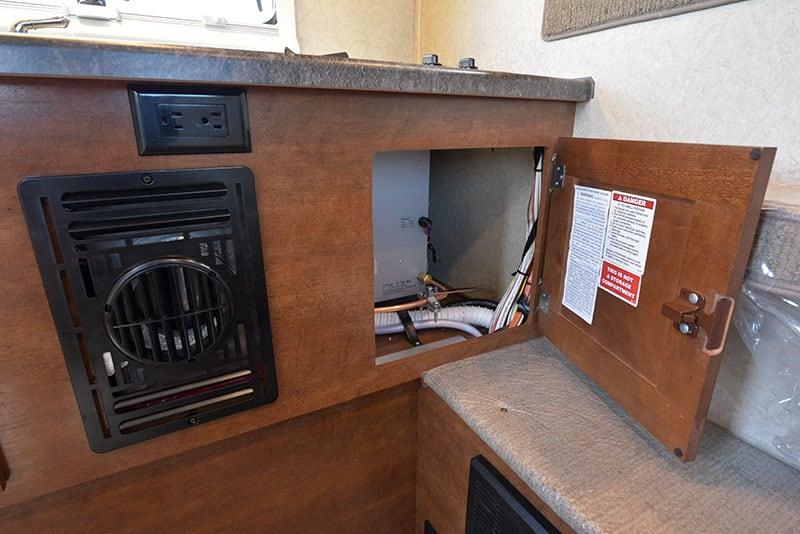 Lance 650 Kitchen Lower Cabinet Water Heater