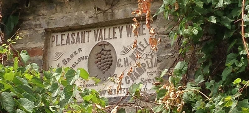 Pleasant Valley Wine Sign
