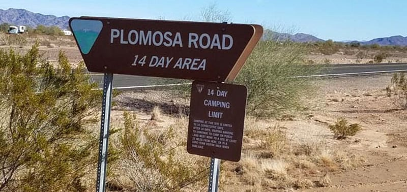 Plomosa Short Term Visitor Area