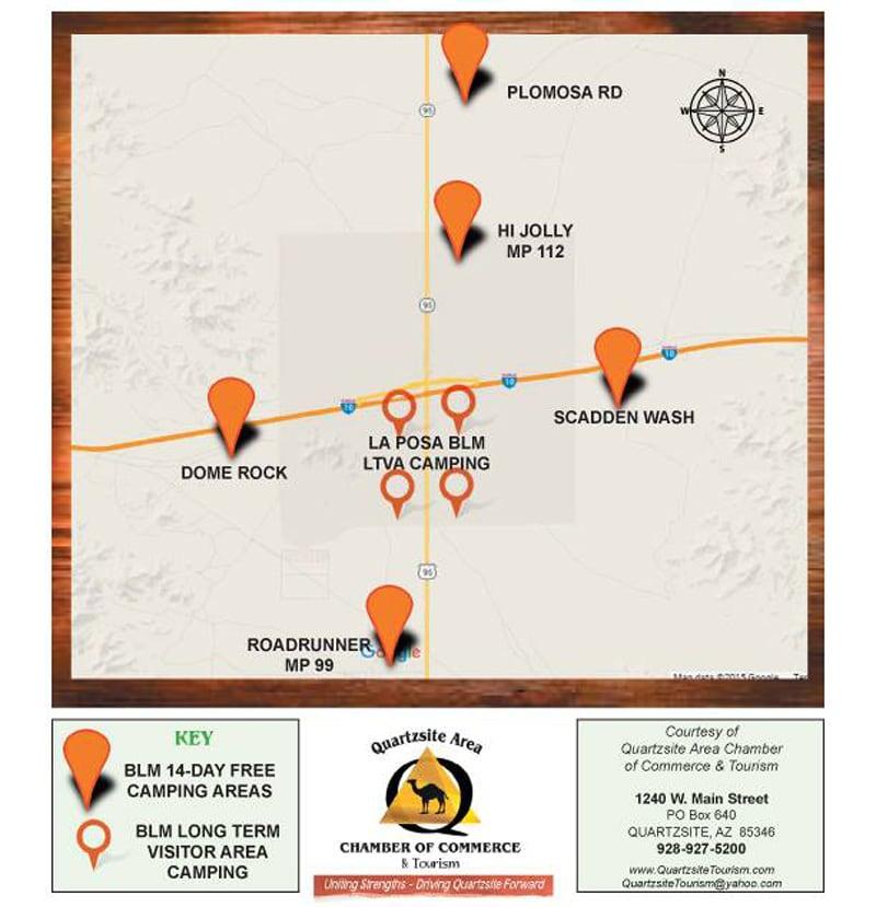 Quartzsite Arizona BLM Map