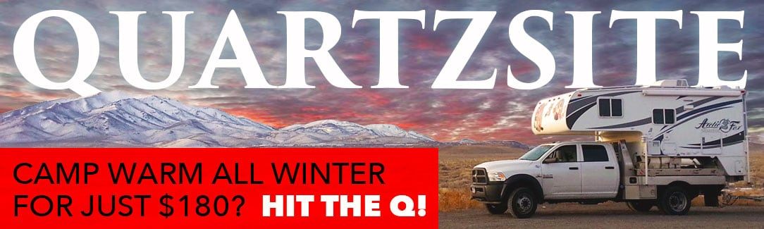 Quartzsite Winter Camping