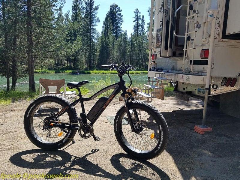 RAD Bike Next To Camper